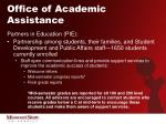 office of academic assistance