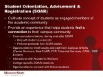 student orientation advisement registration soar