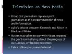 television as mass media