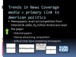 trends in news coverage media primary link to american politics