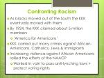 confronting racism