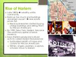 rise of harlem