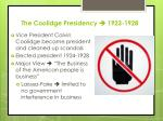 the coolidge presidency 1923 1928