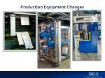 production equipment changes1