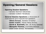 opening general sessions