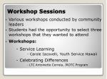 workshop sessions1