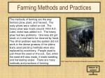 farming methods and practices