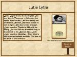 lutie lytle
