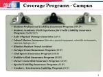 coverage programs campus