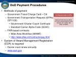 dod payment procedures