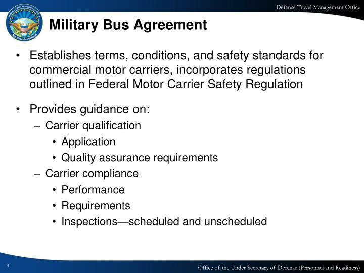 Ppt Military Bus Program Powerpoint Presentation Id1676588