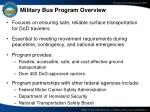 military bus program overview