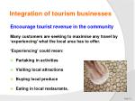 integration of tourism businesses