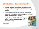 introduction tourism industry1