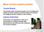 major tourism industry bodies3