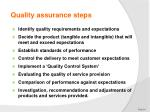 quality assurance steps
