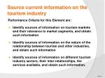source current information on the tourism industry1