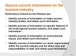 source current information on the tourism industry2