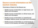 source current information on the tourism industry4