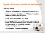 types of industry statistics and trends5