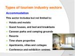 types of tourism industry sectors1