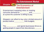 the economics of entertainment