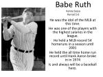 babe ruth kenny sessa period 5 6