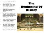 the beginning of disney