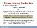 role of industry credentials
