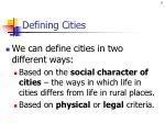 defining cities