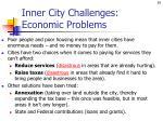 inner city challenges economic problems