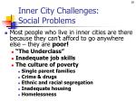 inner city challenges social problems