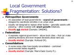 local government fragmentation solutions