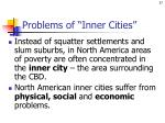 problems of inner cities