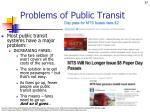 problems of public transit