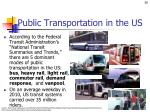 public transportation in the us