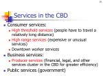 services in the cbd
