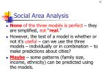 social area analysis