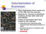 suburbanization of businesses