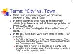 terms city vs town