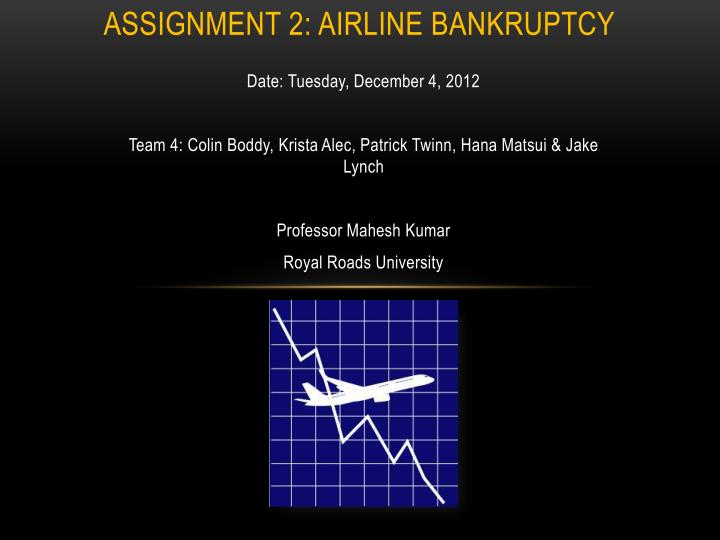 Assignment 2 airline bankruptcy