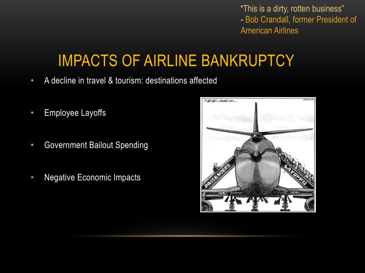 Impacts of airline bankruptcy