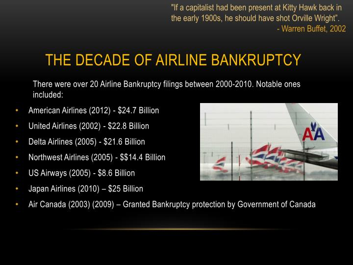 The decade of airline bankruptcy