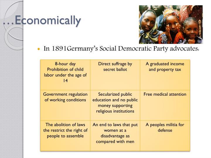 …Economically