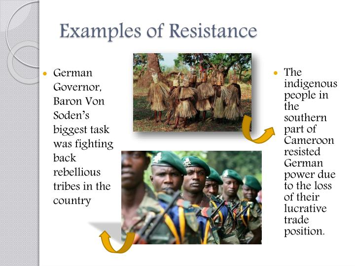 Examples of Resistance