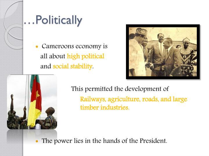 …Politically