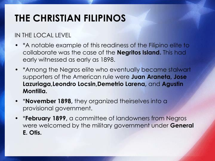 THE CHRISTIAN FILIPINOS
