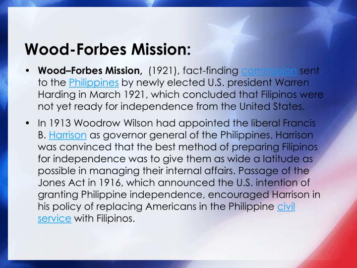 Wood-Forbes Mission: