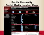 pacific university social media landing page
