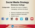 social media strategy simmons college